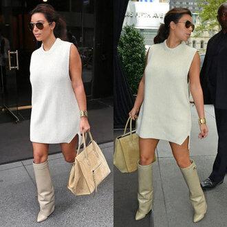 dress boots kim kardashian knitwear casual glam