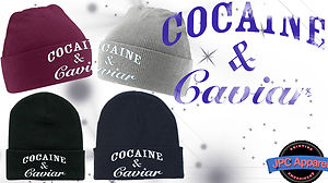 Cocaine Caviar Embroidered Beanie Hat and Hype Dope Turn Up Woolly Hat ILLEST | eBay