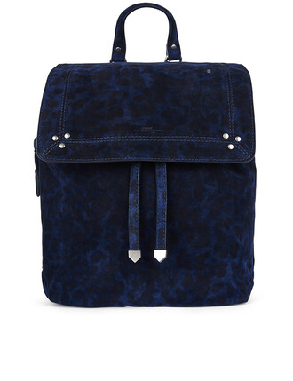 backpack navy suede blue bag