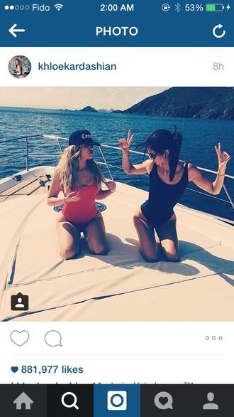 swimwear kendall jenner khloe kardashian style one piece swimsuit
