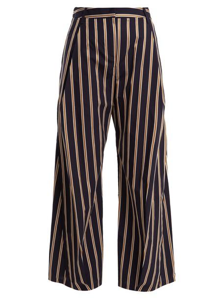 PALMER/HARDING cropped cotton navy pants
