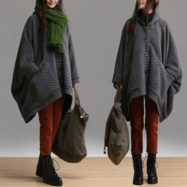 coat overcoat charcoal