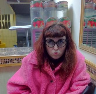 bright pink coat bright pink mohair mohair coat