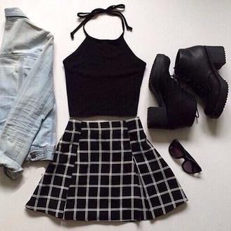 top hipster jupe black blue glasses shoes shorts jeans skirt sunglasses