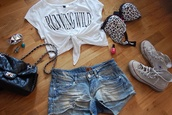 blouse,rainbow,shorts,t-shirt,underwear,top,bag,shoes,jewels