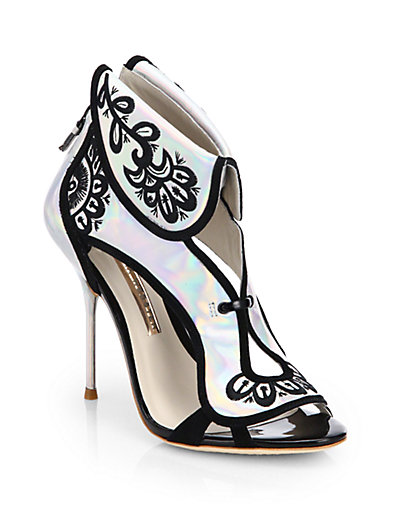 Sophia Webster - Leoni Holographic-Leather Sandals - Saks.com