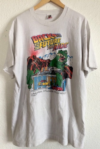 t-shirt back to the future graphic tee old school vintage very rare shirt white