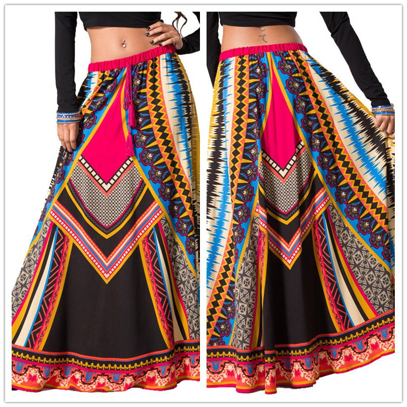 free shipping 2013 summer New arrival bohemia serpentine pattern trumpet skirt long skirt-inSkirts from Apparel & Accessories on Aliexpress.com