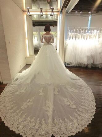 dress a line wedding dresses vintage lace wedding dresses full long sleeves wedding dresses princess wedding dresses chapel train arabic wedding dress muslim wedding dress