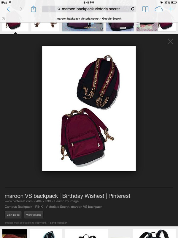 bag victoria secret backpack backpack burgundy school bag