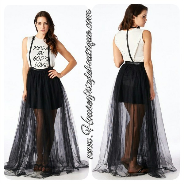 skirt suspenders mesh