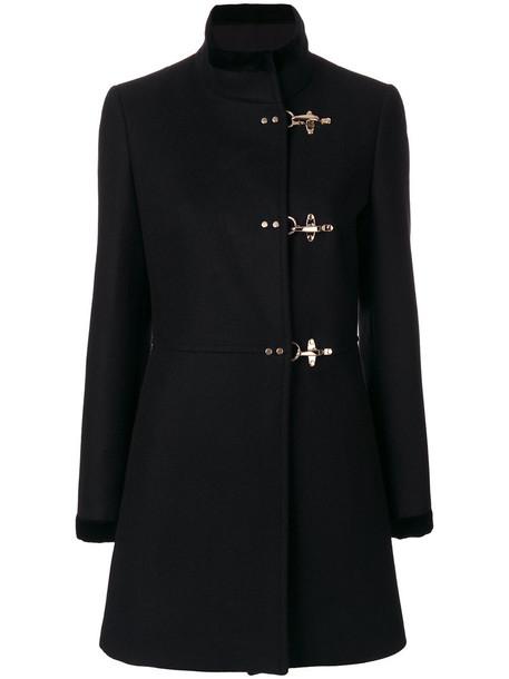 coat duffle coat women cotton black wool