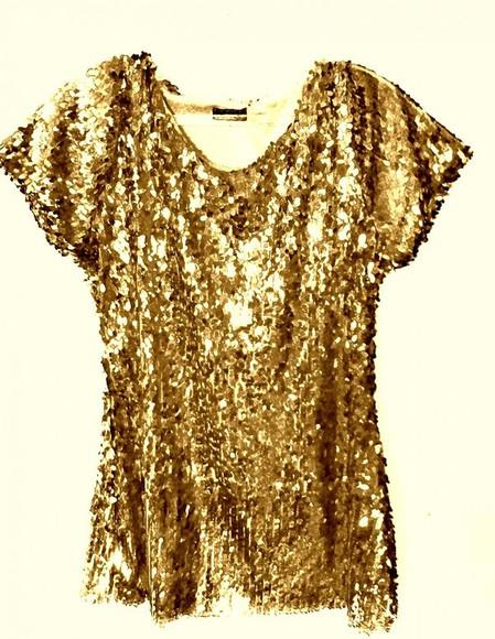 gold blouse gold sequins shirt shimmering