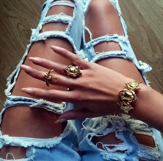 jewels gold ring gold bracelet