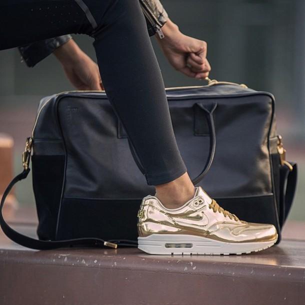 air max, gold, metallic, metallic shoes