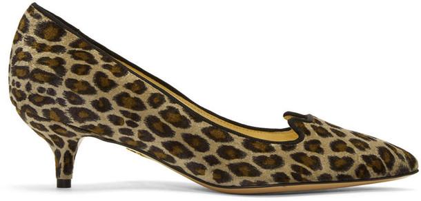 charlotte olympia kitten heels heels velvet taupe shoes