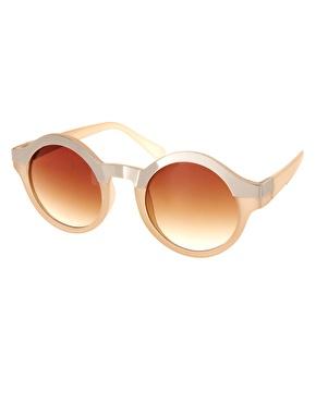 Asos metal top keyhole round sunglasses at asos