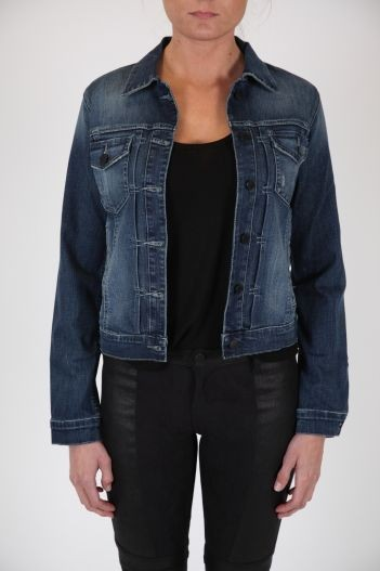 Black orchid vintage denim jacket
