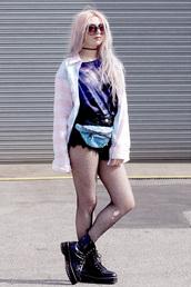 kayla hadlington,blogger,jacket,shorts,shirt,shoes,top,sunglasses