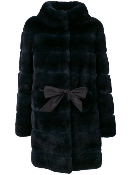 Liska coat fur women blue