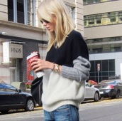 sweater,grey,white,black,knitwear,winter outfits,fashion,knitted sweater,whool
