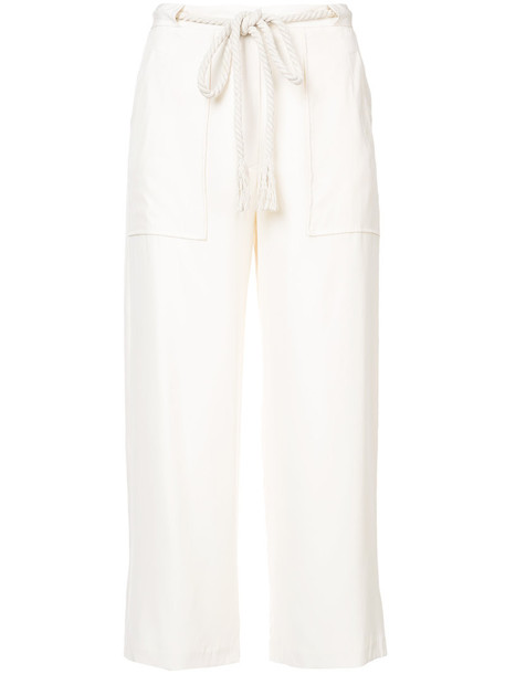 pants cropped pants cropped women white silk