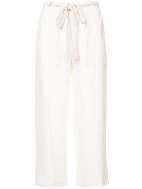 Jenni Kayne pants cropped pants cropped women white silk