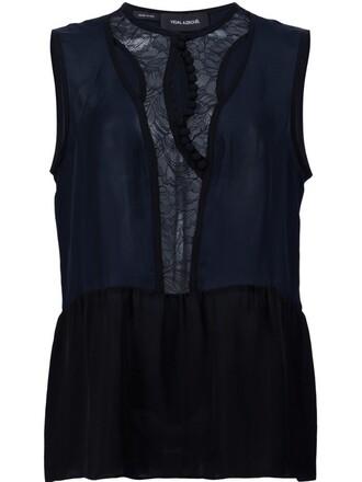 lace blue top