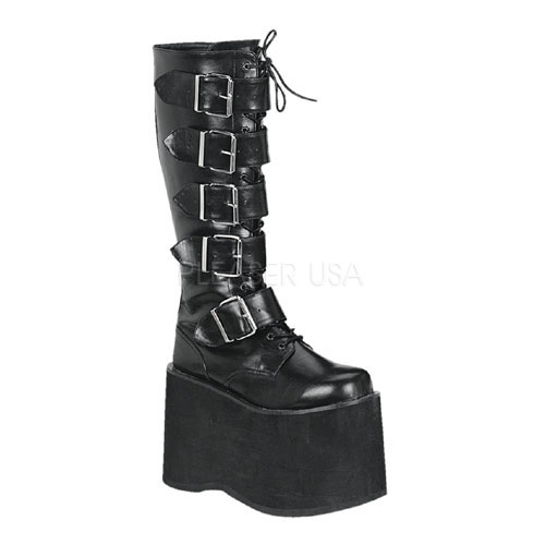 Demonia Mega-618 - Black Pu in Gothic Boots - $109.95