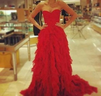 dress elegant red beautiful
