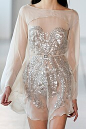 dress,sequins,chiffon short dress beaded sequin