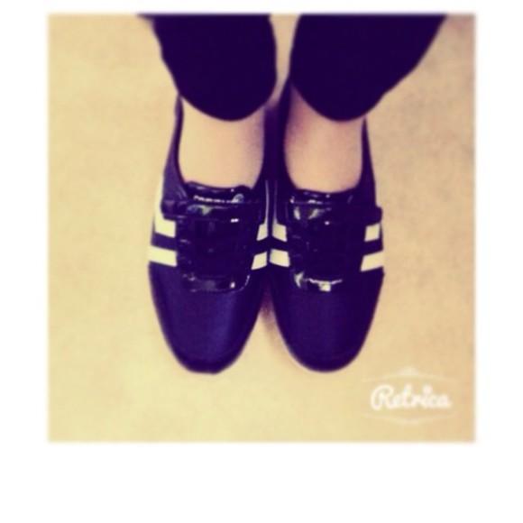 shoes ballerine white black lahalleauchaussure basket