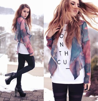 jacket watercolor space colorful