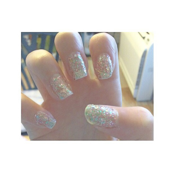 nail polish nails glitter cute
