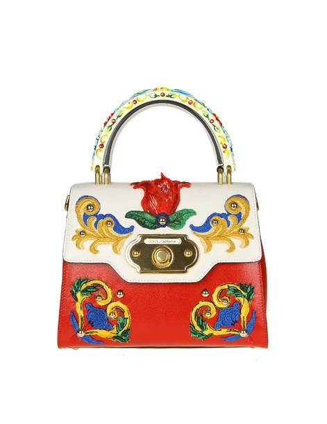 vintage bag leather red