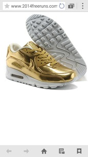 shoes,nike air max 90,nike air max 1,gold,liquid gold,air max,nike,nike shoes