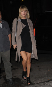 dress,coat,fall outfits,booties,taylor swift,streetstyle