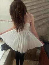 dress,white dress,lace,lace dress,tank top,sleeveless dress,cute,clothes