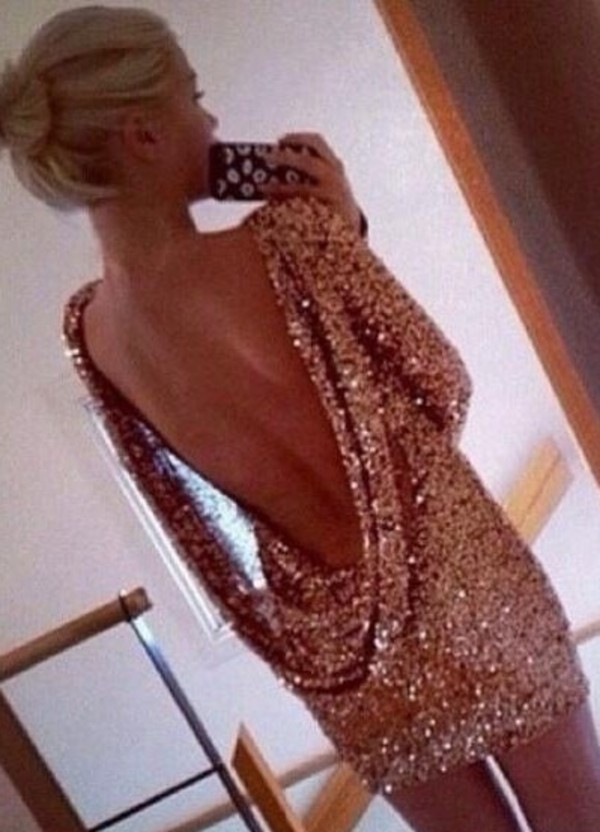 dress backless glitter dress!!!