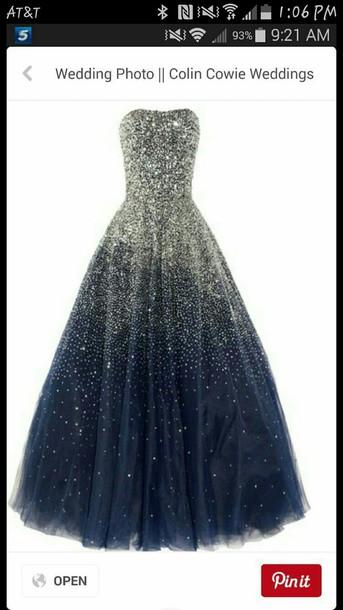 dress sparkle prom dress long prom dress