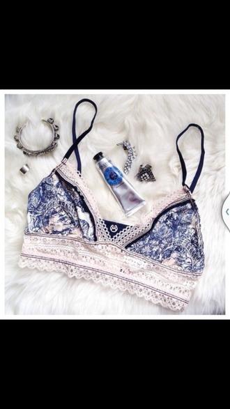 pajamas barlet blue and white lingerie