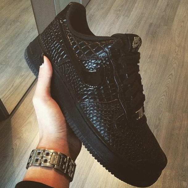 8e8bc7bc352 shoes nike air force low black leather dope nike air force low black nike  platform shoes