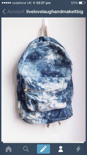 bag,blue,white,backpack,indie,fanny pack,hipster,summer outfits,cool bags,cool style,cool girl style,denim,vintage