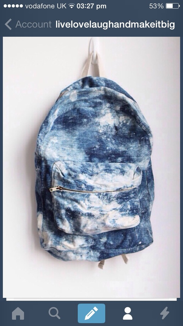 bag blue white backpack indie fanny pack hipster summer outfits cool bags cool style cool girl style denim vintage