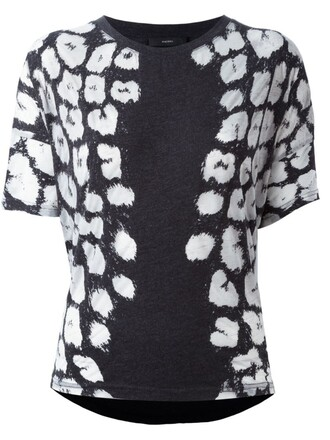 t-shirt shirt animal print animal print black top