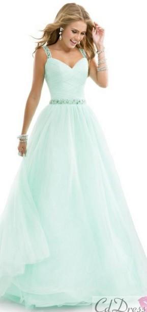 dress turquoise dress strappy dress diamonds long prom dress formal