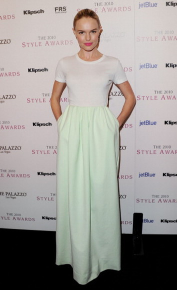 kate bosworth maxi blue skirt green skirt