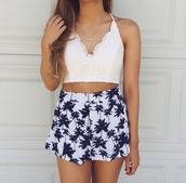 top,haute rogue,lace top,lace blouses,criss crossed,criss cross,criss cross back,open back,halter top,summer top,crop tops,white top,cute top