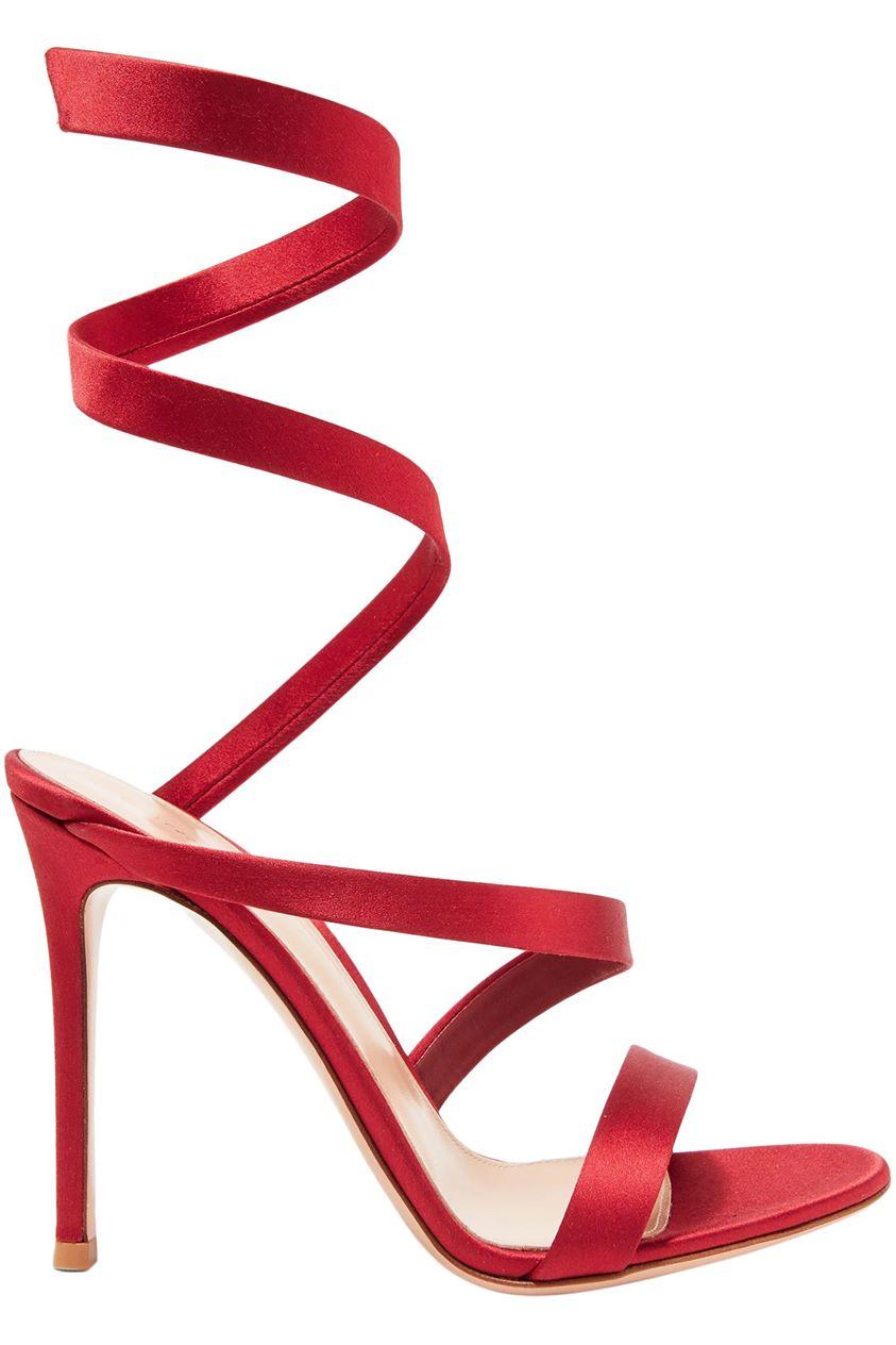 Gianvito Rossi Woman Opera 100 Satin Sandals Claret Size 34