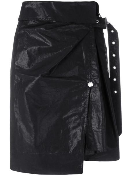 Isabel Marant skirt wrap skirt short women cotton black